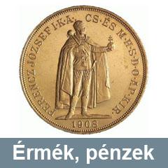 Régi pénzek, érmék felvásárlása